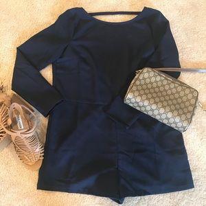Navy Blue Shorts Romper